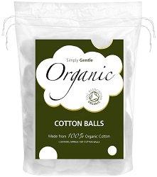 100% био памук на топки - Опаковка от 100 броя -