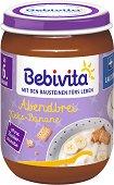 """Bebivita - Млечна каша """"Лека нощ"""" с бисквити - Бурканче от 190 g за бебета над 6 месеца - биберон"""
