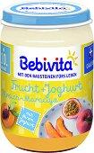 Bebivita - Плодов дует с йогурт, праскова и маракуя - Бурканче от 190 g за бебета над 10 месеца -