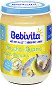 Bebivita - Плодов дует с ябълка, банан и извара - Бурканче от 190 g за бебета над 10 месеца - продукт