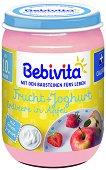 Bebivita - Плодов дует с йогурт, ягода и ябълка - Бурканче от 190 g за бебета над 10 месеца - шише