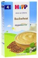 HiPP - Инстантна пребиотик млечна каша с елда - Опаковка от 250 g за бебета над 4 месеца - пюре