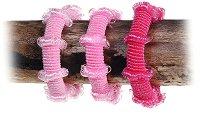 Текстилни ластици за коса - Комплект от 3 броя - ластик
