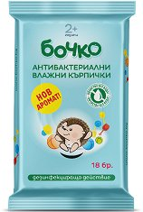 Антибактериални влажни кърпички - В опаковка от 18 броя - сапун