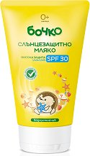 Слънцезащитно мляко за бебета и деца - пинцета
