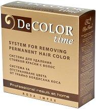 Система за отстраняване на цвета от трайно боядисана коса - Decolor time - маска