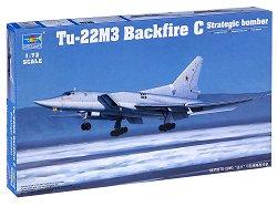 Стратегически бомбардировач - Tu-22M3 Backfire C - Сглобяем авиомодел - макет