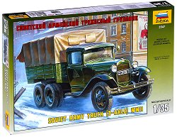 Съветски военен камион - ГАЗ - ААА - Сглобяем модел -