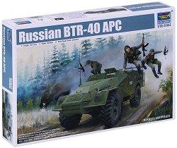 Руски бронетранспортьор - BTR-40 APC - Сглобяем модел - макет