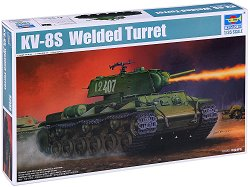 Съветски танк - KV-8S Welded Turret - Сглобяем модел -