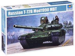 Съветски танк - T-72B Mod1990 MBT - Сглобяем модел -