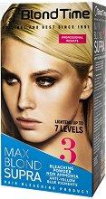 """Blond Time 3 Max Blond Supra - Изрусител за коса без амоняк от серията """"Blond Time"""" - балсам"""