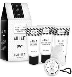"""Scottish Fine Soaps Au Lait Pamper Kit - Козметичен комплект за баня с мляко от серията """"Au Lait"""" -"""