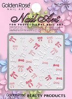 """3D стикери за нокти - Панделки - От серията """"Golden Rose Nail Art"""" - продукт"""