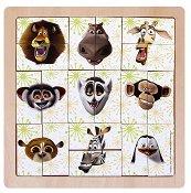 Животните от Мадагаскар 2 - Дървен пъзел -