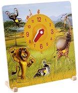 Дървен пъзел с часовник - Мадагаскар 2 - пъзел