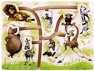 """Невероятните животни - Дървен пъзел от серията """"Мадагаскар"""" -"""