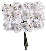 Декоративен елемент - Бели цветя