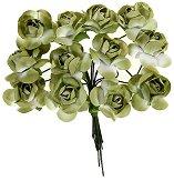 Декоративен елемент - Светлозелени цветя
