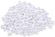 Мъниста - Бели сърца - Опаковка от 50 g