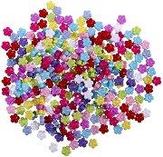 Мъниста - Разноцветни цветя - Опаковка от 50 g