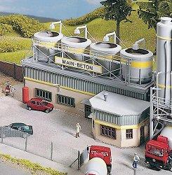 Главна сграда на бетонов възел - Аксесоар за сглобяеми макети -