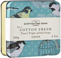 """Сапун в метална кутия - Свеж памук - От серията """"Birds"""" -"""