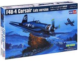 """Военен самолет - F4U-4 """"Corsair"""" (късна версия) - Сглобяем авиомодел -"""