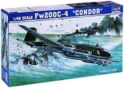 Немски военен самолет - Focke-Wulf Fw 200C-4 Condor - Сглобяем авиомодел -