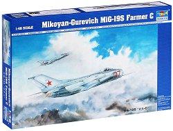 """Военен самолет - MiG-19S """"Farmer C"""" - Сглобяем авиомодел -"""