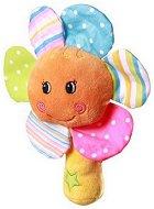 Плюшена дрънкалка - Цветенце - За бебета над 6 месеца - играчка