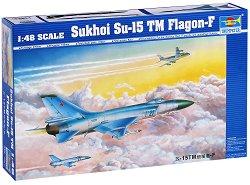 Съветски изтребител - Sukhoi Su-15 TM Flagon-F - Сглобяем авиомодел -