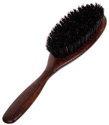 Четка за коса - Изработена от букова дървесина и мека четина от диво прасе - крем
