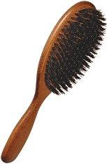 Четка за коса - Изработена от букова дървесина и твърда четина от диво прасе - четка