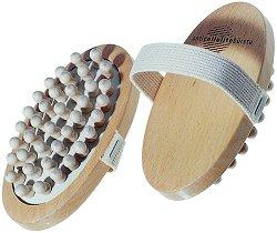 Антицелулитна четка за масаж - От букова дървесина - продукт