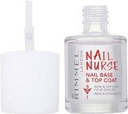 Nail Nurse - Nail Base and Top Coat - Мултифункционална основа и топ лак - спирала