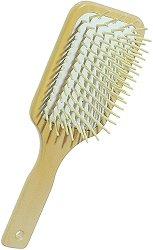 Четка за коса с дървени щифтове - Paddle -