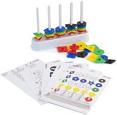 Сортирай цветните формички - Комплект от 50 части - играчка