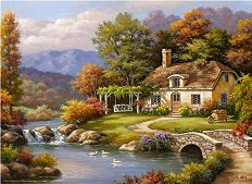 Къща край реката - Сунг Ким (Sung Kim) - пъзел
