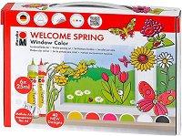 """Трансферни бои за стъкло - Welcome Spring - Комплект от 6 цвята x 25 ml от серията """"Fun&fancy"""""""