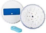 Светодиодни магнитни лампи за наземни басейни с метални стени - Комплект от 2 броя с дистанционно управление