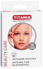 Titania Patches for Blackheads - Комплект от 10 броя лепенки за почистване на черни точки - продукт