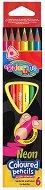 Тристенни неонови моливи - Комплект от 6 цвята