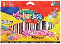 Брокатено лепило - Rainbow - Комплект от 10 цвята