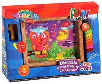 """Пластилин - Бухалче - Творчески комплект с пластилин от серията """"Fun Dough"""" -"""