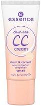 CC крем - All-in-one - Със защитен фактор SPF 30 - дезодорант