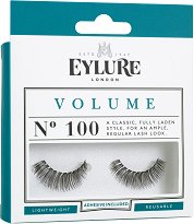Eylure Volume 100 - Мигли от естествен косъм в комплект с лепило - продукт