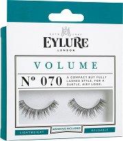Eylure Volume 070 - Мигли от естествен косъм в комплект с лепило - ролон