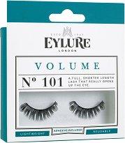Eylure Volume 101 - Мигли от естествен косъм в комплект с лепило - очна линия