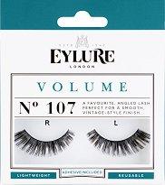 Eylure Volume 107 - Мигли от естествен косъм в комплект с лепило - лосион